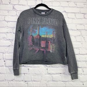 Junk Food Pink Floyd Distressed Pullover XS